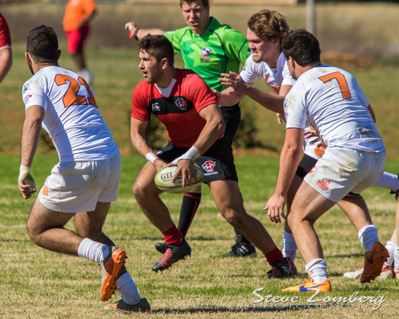 Davenport v Clemson rugby Feb 18 2017. Steven Zomberg photo.