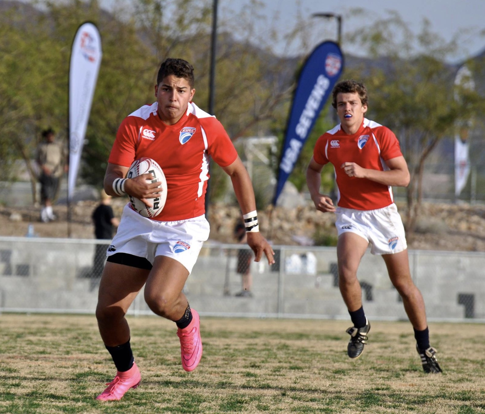 Quinn Perry and Christian Newby Eagle Impact Rugby Academy. Heide Newby photo.