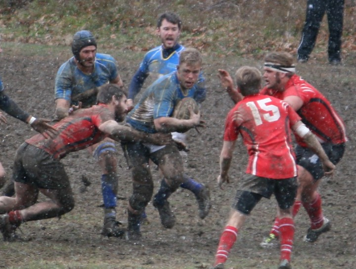 Notre Dame College v Cincinnati November 20 in the mud in Pittsburgh.