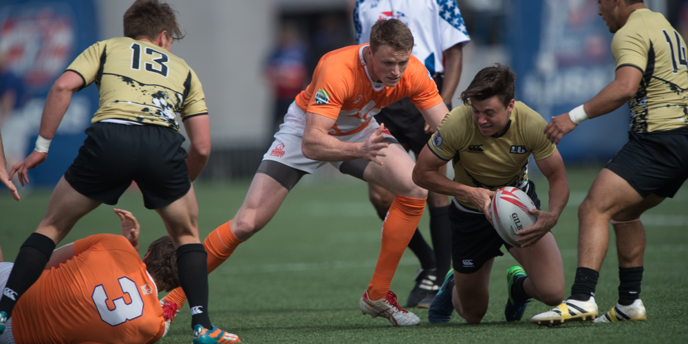 Lindenwood v Clemson in LVI College Final. David Barpal photo for Goff Rugby Report.