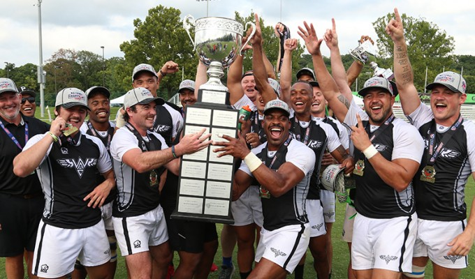 The WAC men took home the trophy at last year's club 7s finals. Travis Prior photo.