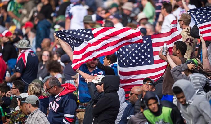 US fans at the USA 7s. David Barpal photo.