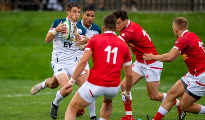 AJ MacGinty in action for the USA against Canada in 2019. David Barpal photo.