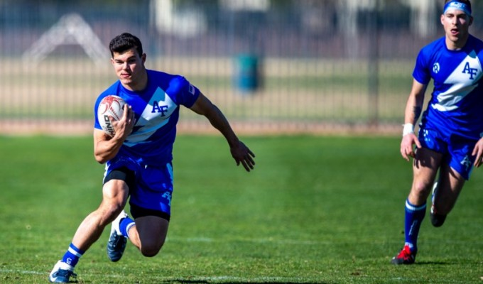 Air Force last competed in 7s in Las Vegas February 2019. David Barpal photo.
