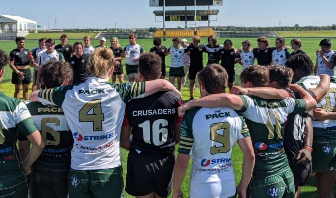 Players gather at a previous MLR College Showcase in Houston.
