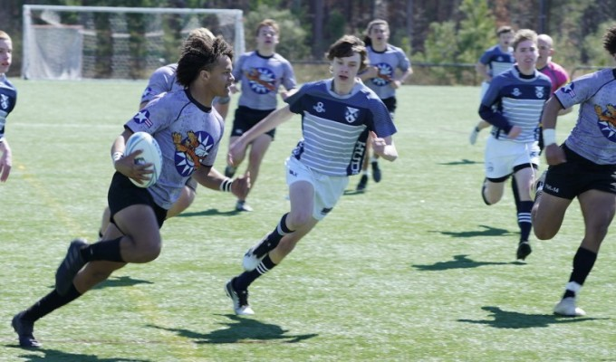 The Charlotte Tigers backline is a potent one. Dennis Yancey photo.
