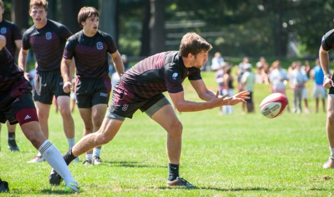 Colgate in action. Their head coach, David Chapman, is helping speerhead a new college rugby organization. Andrew Turner photo.