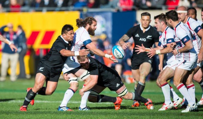 The USA and the All Blacks met in Chicago in 2014, with New Zealand winning 74-6. David Barpal photo.
