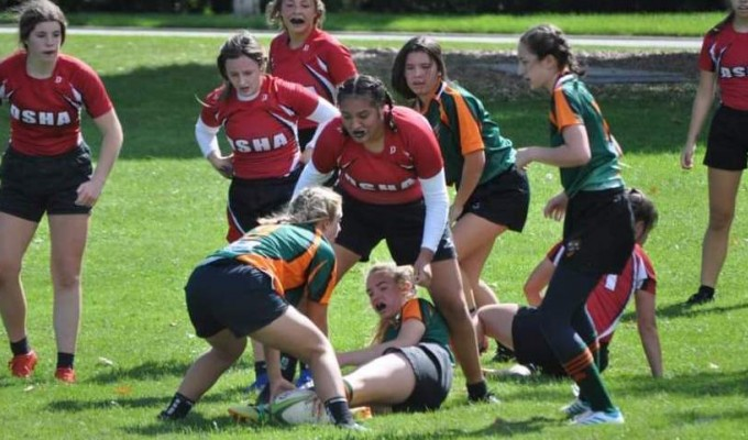 Green Bay got a try against a much more experienced DSHA squad. Photo DSHA Rugby.