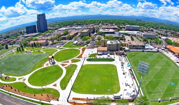 Infinity Park from high up.
