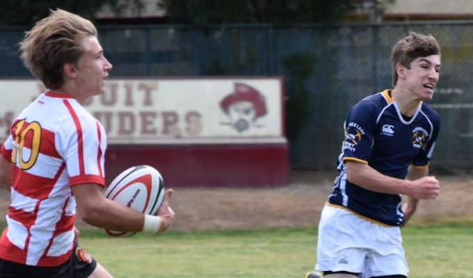 Jesuit found some space after giving up the opening try. Photo Curtis Popp.