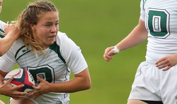 Two tries from Lilly Durbin sparked a rolling Big Green. Photo Dartmouth Athletics.