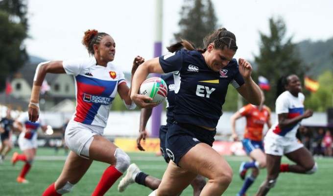 Ilona Maher returns with the USA team. Mike Lee KLC fotos for World Rugby.