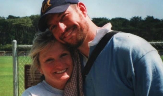 Mark Bingham and his mother, Alice Hoagland.