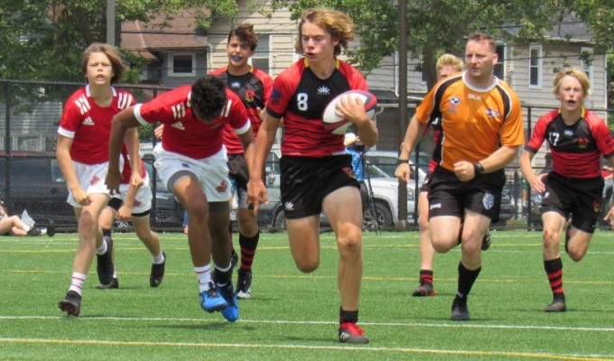 San Diego showcased some great rugby, but didn't make the semis because of a 7-5 result in another game. Alex Goff photo.