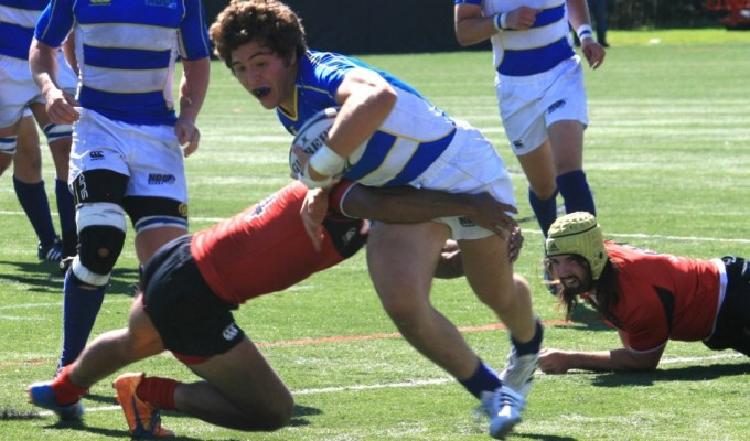 Andrew Guerra charges ahead for Notre Dame College.