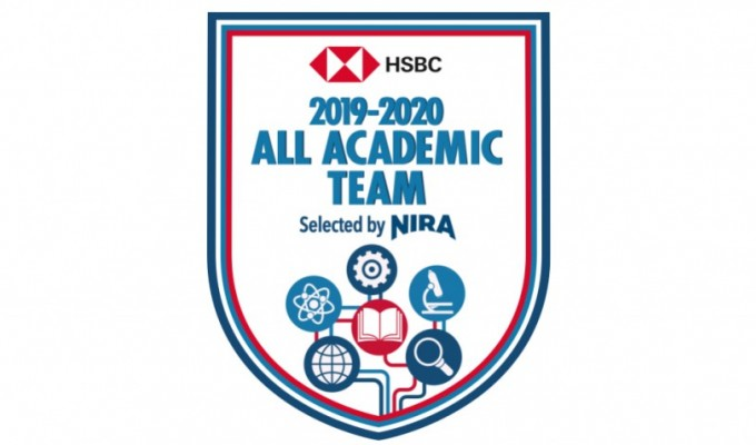 NIRA All Academic Team badge.