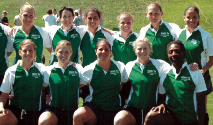 The 2005 Northeast Women's All-Star team that won the 2005 NASC 7s. Rugby Magazine.