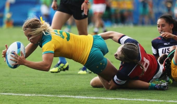 Australia vs USA in the 2016 Olympics.