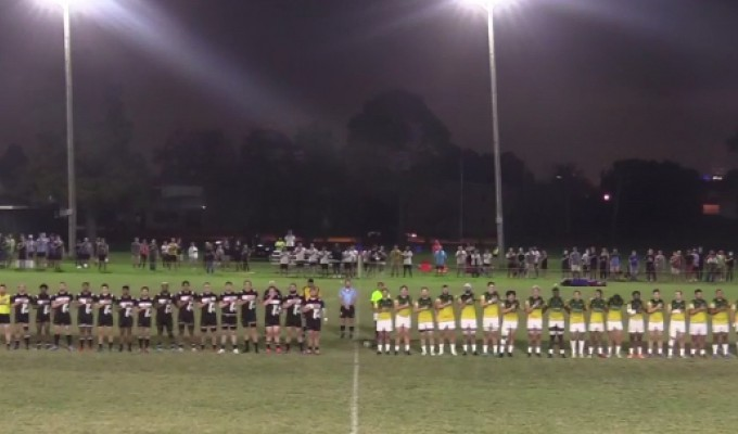 Pathway 404 and NOLA Academy players line up pre kickoff.