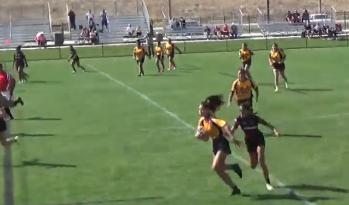Provo on the breakaway. Photo from Utah Youth Rugby's Youtube Coverage.