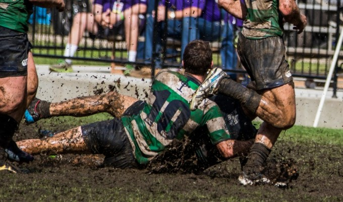 Royal Irish in the mud. Dan Bandoni photo.