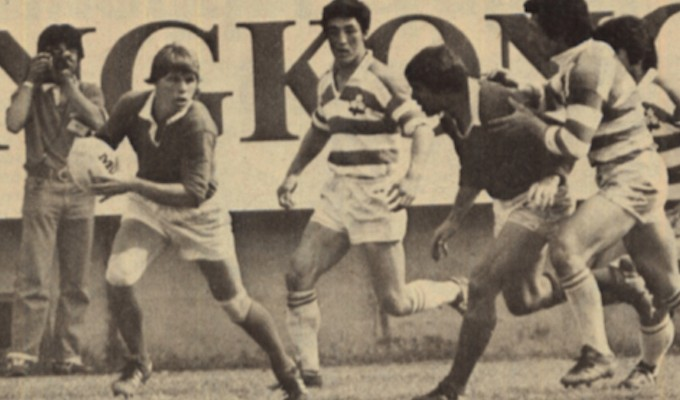 Tommy Smith finds some room against Japan at the Hong Kong 7s. Photo Rugby Magazine.