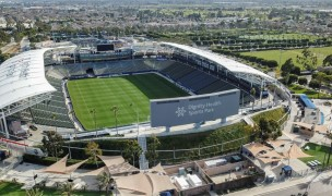 Drone view of the Dignity Health Sports Park