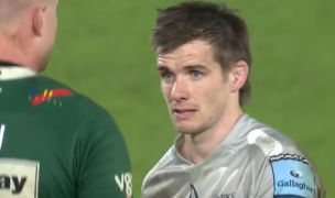 MacGinty shakes hands post-game against London Irish. Photo from Youtube.