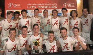 Alabama celebrates their victory in LA.