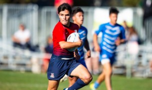 Arizona in action at the 2019 West Coast 7s. David Barpal photo.
