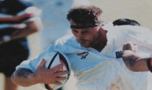 LeClerc carries the rock against Hong Kong in his test debut in 1996.