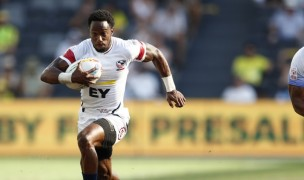 Carlin Isles off for one of his three tries against Japan. Mike Lee klc fotos for World Rugby.