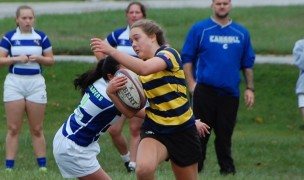 Action from this weekend's Rugby Indiana touch rugby. Photo courtesy Carmel HS Girls Rugby.