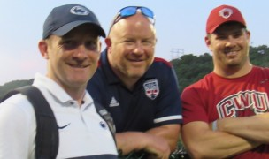 Penn State Head Coach Justin Hundley, DC Old Glory Development Chief Tim Brown, and Central Washington Head Coach Todd Thornley.