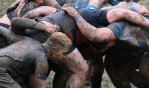 It's a muddy scrum.