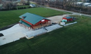 The final product sits between the two main fields in Cottage Grove.