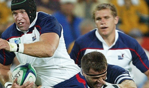 Dave Hodges charges ahead against Scotland in 2003. Photo Rugby World Cup.
