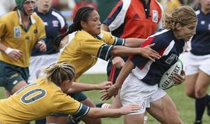 Ellie Karvoski for the USA vs Australia in the 2006 RWC. Photo World Rugby.