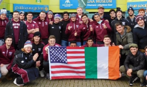 The Fordham players at Croke Park - Irish Rugby Tours.