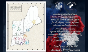 The New England Free Jacks Academy map.