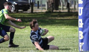 Germantown scoring against the Bayous Hurricanes. Photo courtesy Germantown rugby.