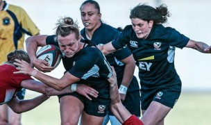 Sorensen Award winner McKenzie Hawkins moves the ball forward. Photo USA Rugby.