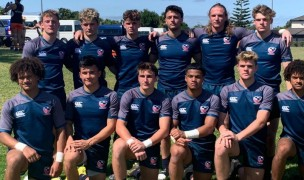 HS All Americans serious team picture at World School 7s.