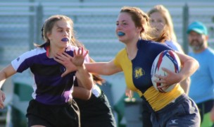 Was Meridian's upset of Rocky Mountain in the girls 7s season a harbinger? Amy Morrison photo.