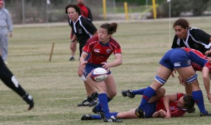 Ines Rodriguez with the USA 7s team in 2008 in San Diego, Photo Ed Hagerty.