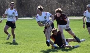 IUPUI in white. Photo IUPUI Rugby.