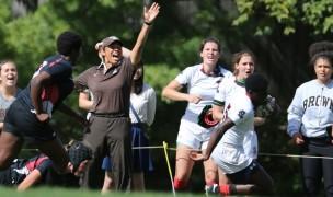 Kathy Flores was dedicated to coaching and was coaching Brown through this season. Photo Brown University Athletics.