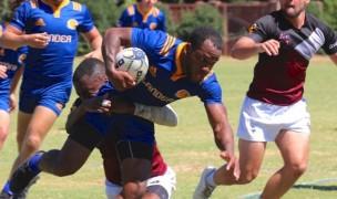 Lander University rugby in action. Hannah Davidson photo for Lander Athletics.