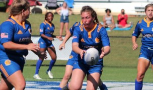 Lander women in action. Amy Nicholson photo for Lander Rugby.